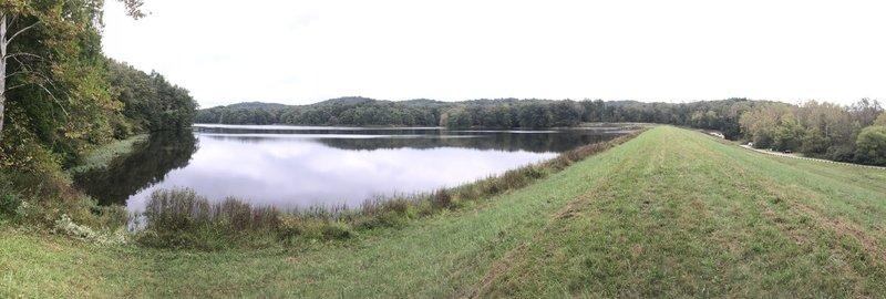 Lake dam.