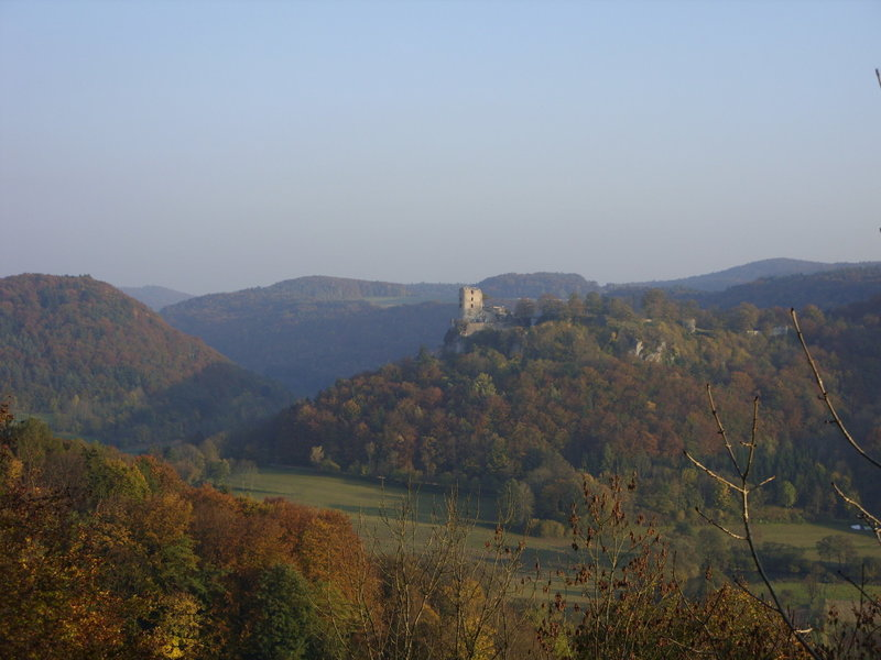 Neideck above the valley of river Wiesent.