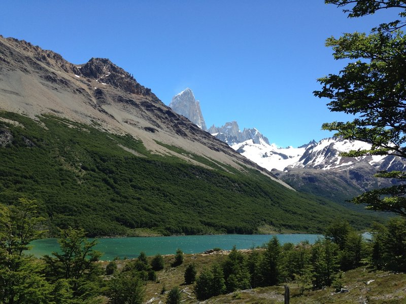 First peak of Fitz Roy.
