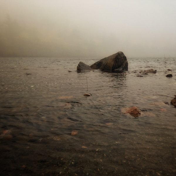 Bubble Pond in the fog.