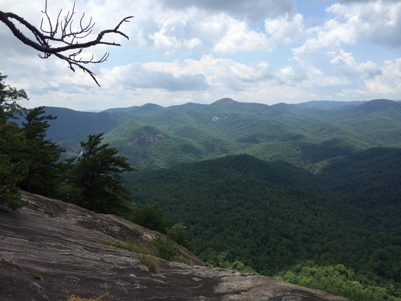 Views from the summit of Looking Glass Rock.