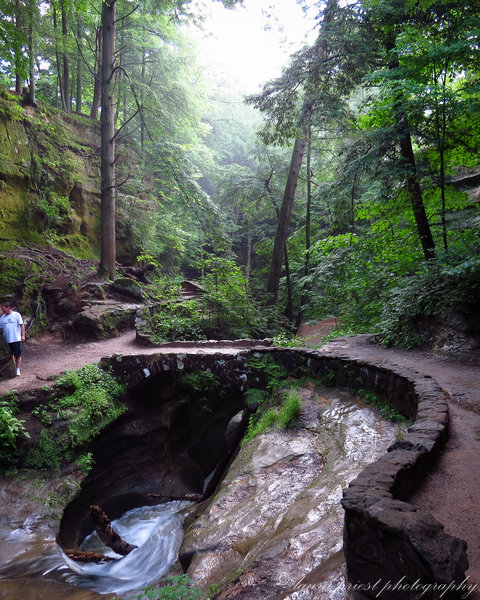 Devil's Bathtub at Hocking Hills State Park, Old Man's Cave Trail.
