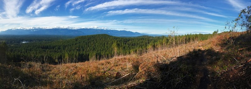 Panoramic views from the Gold Creek Trail, Green Mountain State Forest.