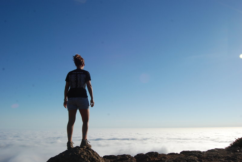 The trail literally took us above the clouds.