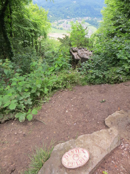 Devil's Pulpit is a rock outcropping overlooking the valley and the ruins of Tintern Abbey