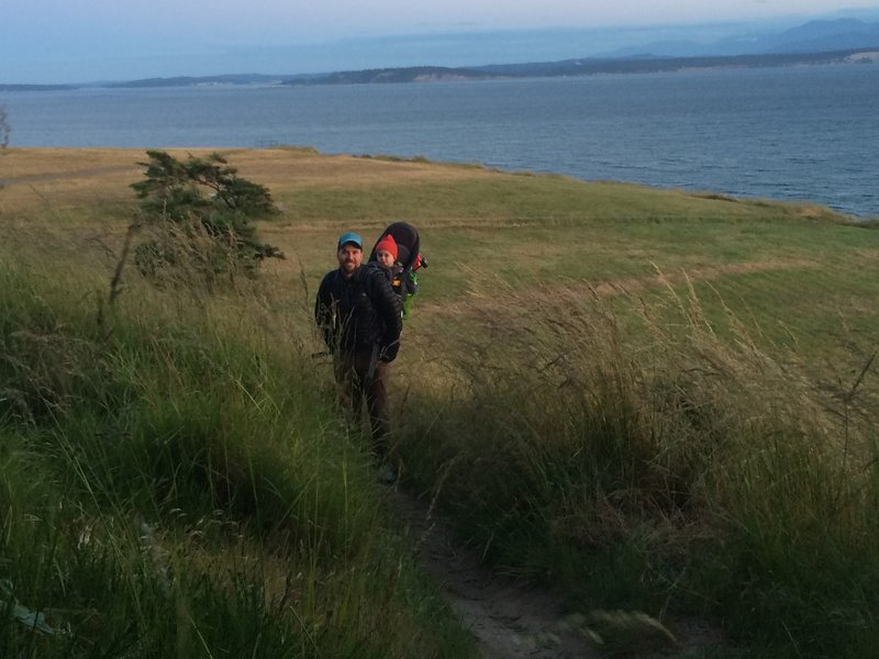 Evening hike at Fort Ebey