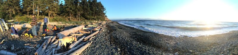 Beach time at Fort Ebey.