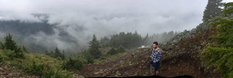 Cloudy day on Mailbox Peak.