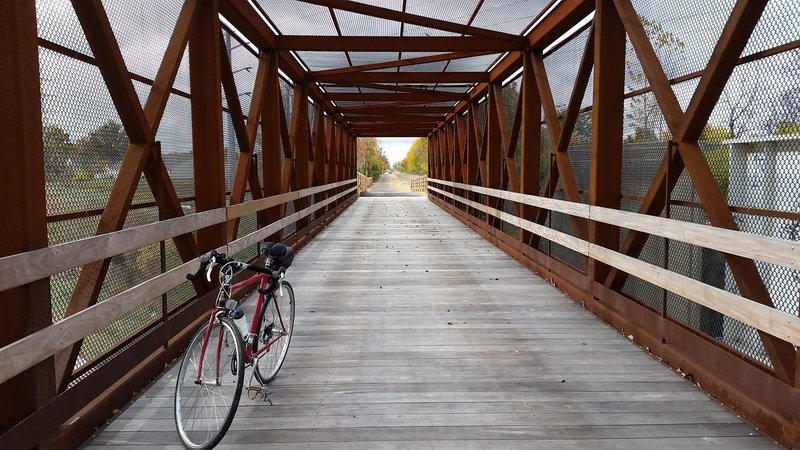 Camp Chase Trail boasts the longest bridge on the Ohio to Erie Trail. (100 yards)