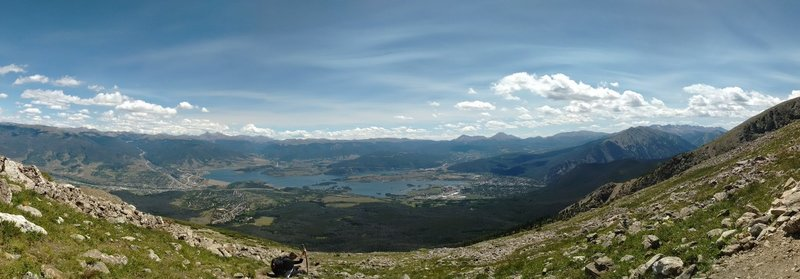 The cradle of Frisco, Silverthorne, and Lake Dillon Reservoir.  Well worth the climb.