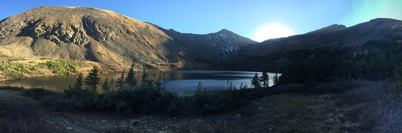 Looking over Comanche Lake to Comanche Peak.