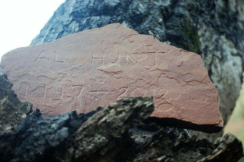 Al Hunt Memorial along the trail.