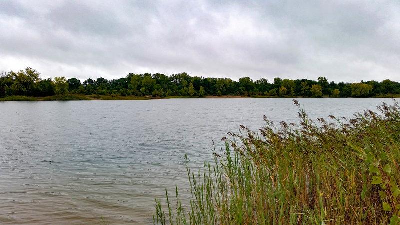 The view along Trout Lake.