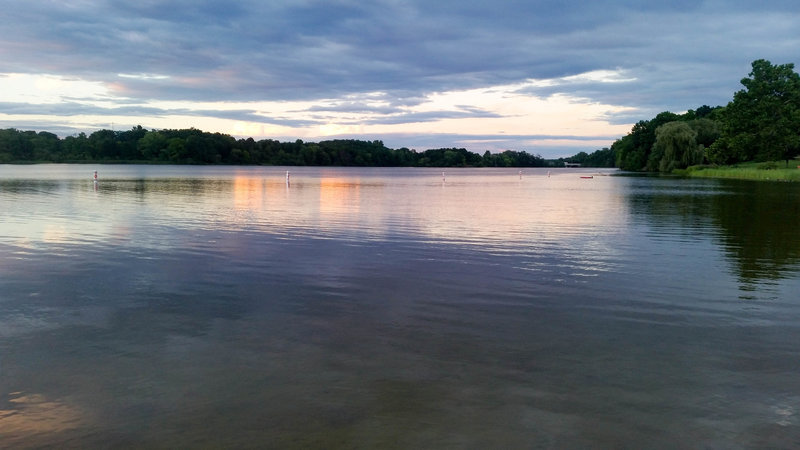 The view from Kent Lake Beach.