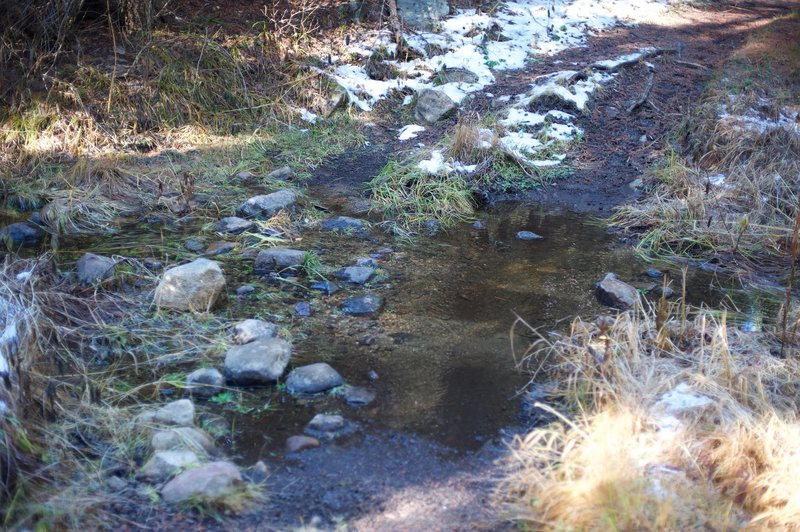There are several small tributaries that feed into Bridalveil Creek, which require rock hops or log crossings in order to cross.  This can be trickier in the spring, when snow melt feeds the creek.