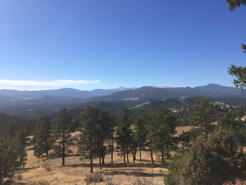 View all the way to Mt. Evans to the west.