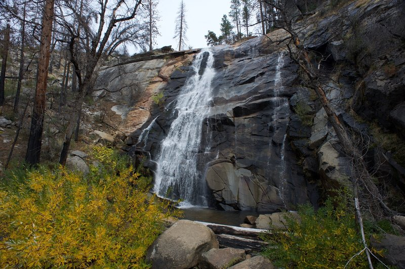 Foresta Falls in the fall, after a rainstorm had passed through the Yosemite area, re-vitalizing the waterfalls.