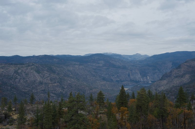 The view from Lookout Point toward the Hetch Hetchy Reservoir.
