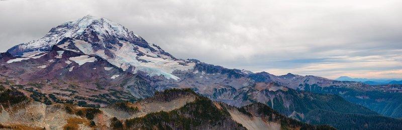 Mt. Rainier after a long dry summer.