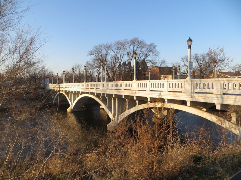 North Avenue Bridge.