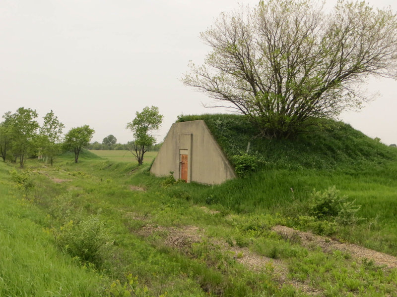 Bunkers in the Midewin National Tallgrass Prairie
