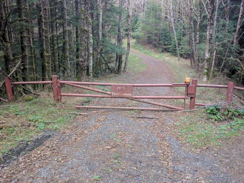 """Old """"No Trespassing"""" Gate."""