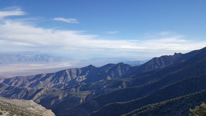 Badwater, California from Telescope Peak Trail.