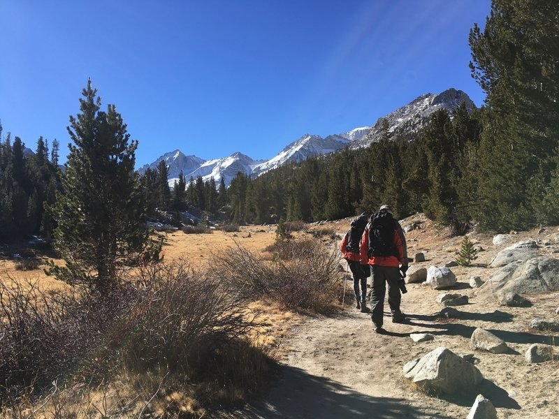 Following along on the Gem Lake Trail.