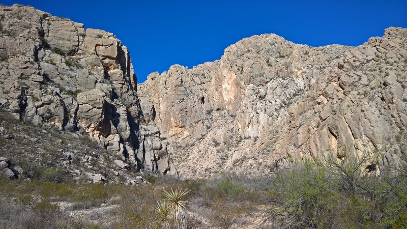 East side of Dog Canyon. Looking back to west.
