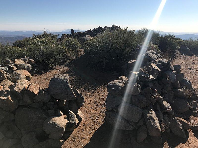 Wind break at summit.