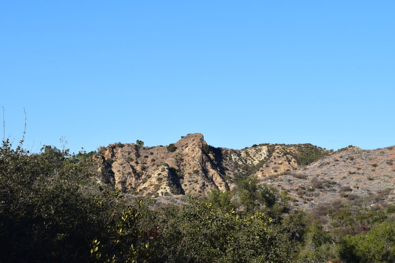 A ridgeline visible from the trail.