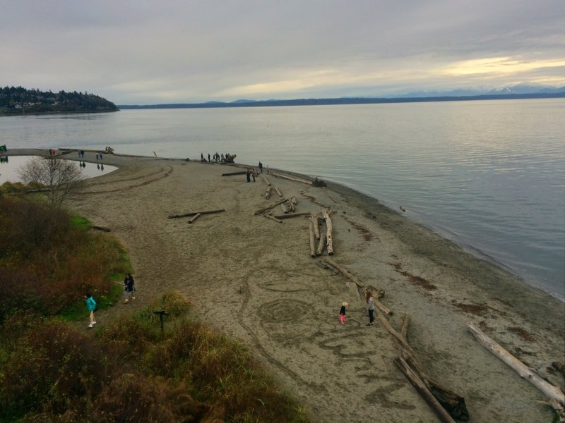 View to beach access from Carkeek Park.