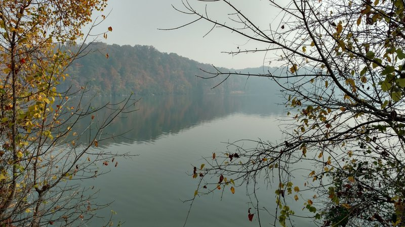 A great view of the Little Tennessee River along the trail close to the Rivergate entrance to the fort.