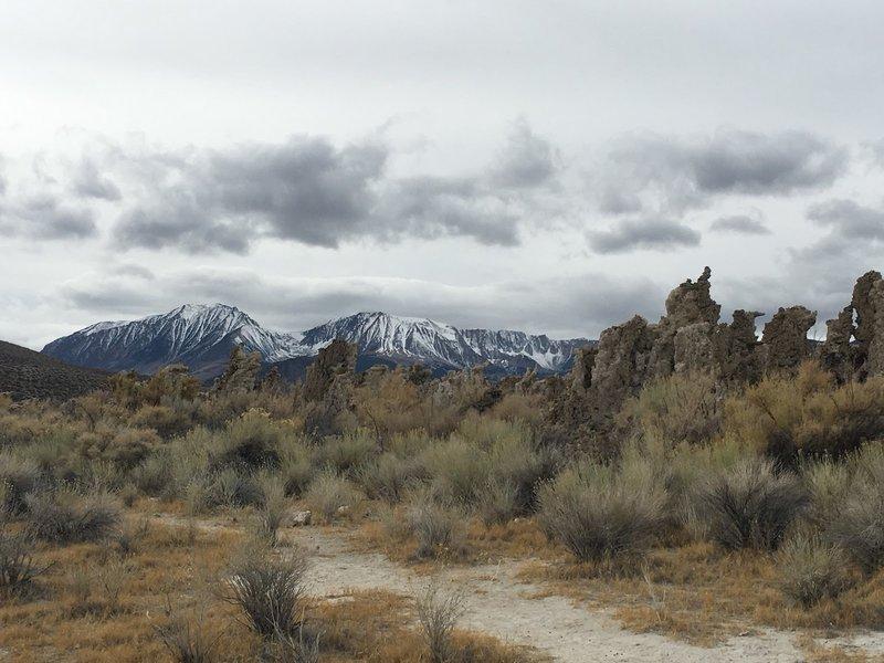 Snow on the sierra.