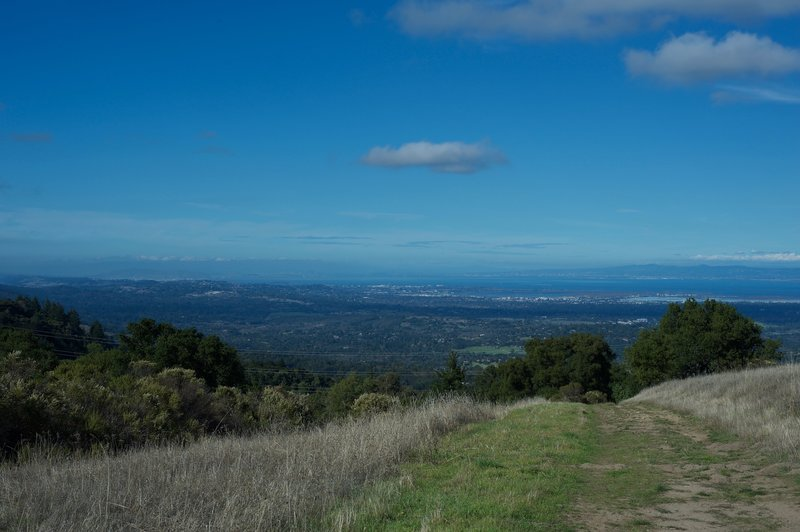 The trail descends into the preserve, but there are a couple of great views before it re-enters the woods.