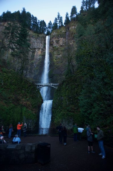 A view of the Upper and Lower portions of Multnomah Falls.