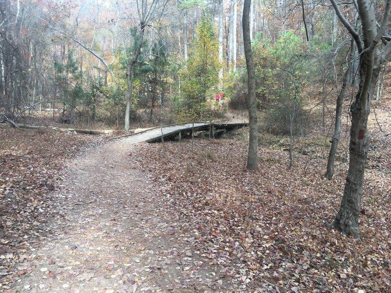 First bridge along the trail.