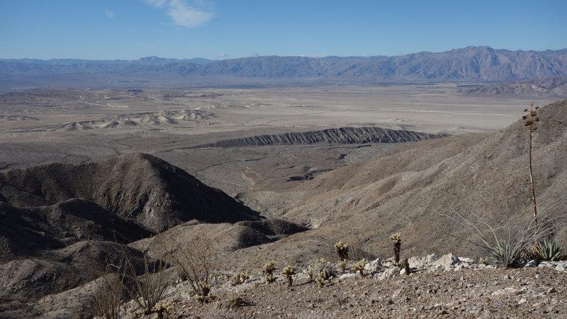 Escarpment at the opening of Rattlesnake Canyon.