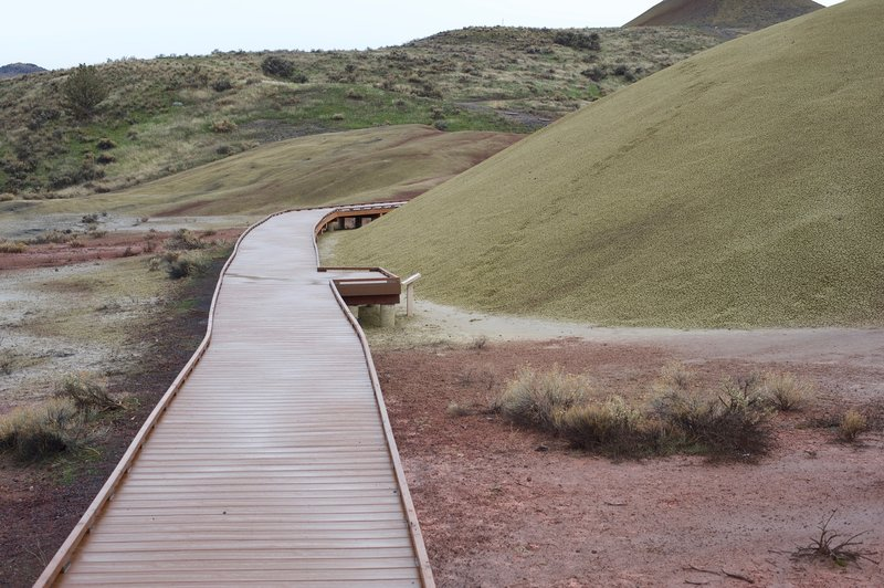 The boardwalk that brings you up close to the hills.