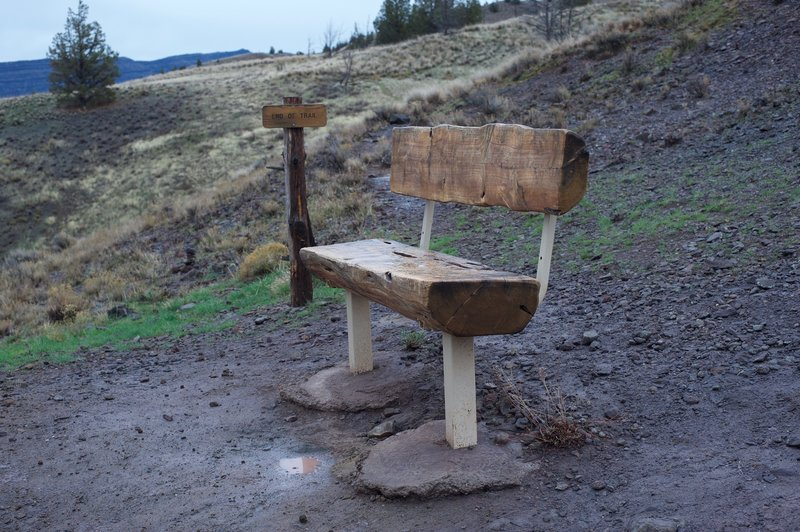 At the end of the trail, there is a bench where you can sit and enjoy the views.