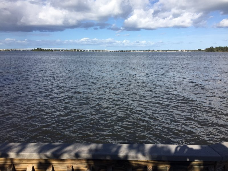 Dock over the Indian River (looking north)
