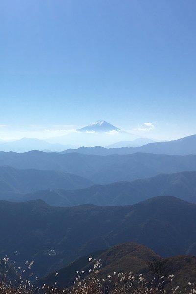 View of Mt Fuji from Takanosu Summit