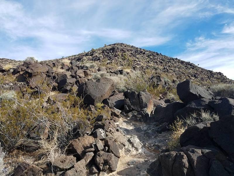 Looking at Black Mountain Peak.