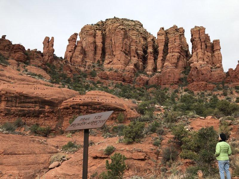 Start of the Broken Arrow Trail