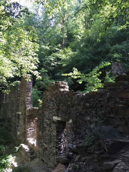 The paper mill ruins at Sope Creek