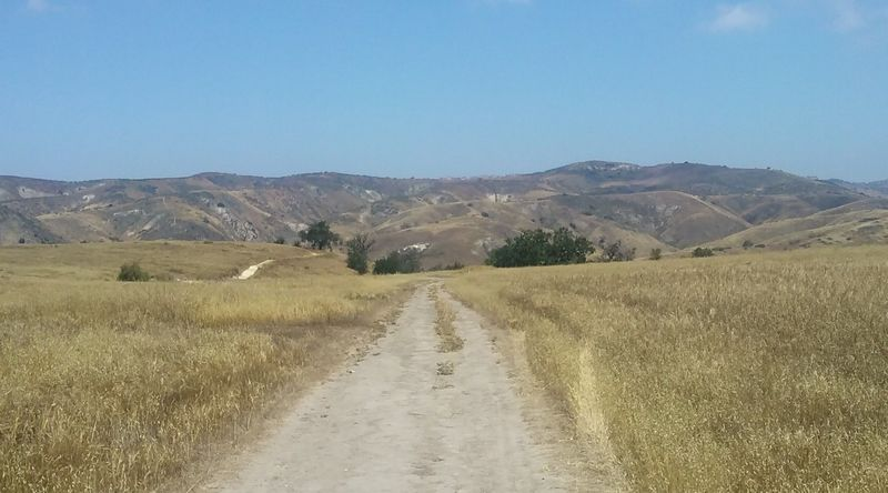 Looking across Lasky Mesa on the Mary Weisbrock Trail, Upper Las Virgenes Canyon Open Space Preserve