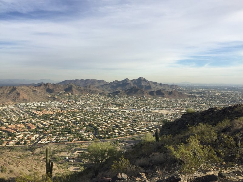 View to the west from the peak. Four Peaks is waaaay back there!