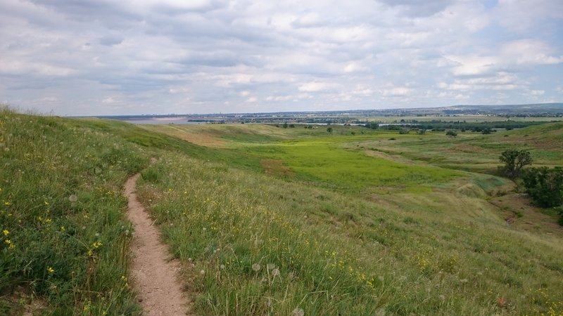 Looking east over Chatfield State Park.