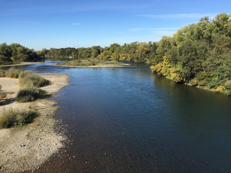 The mighty American River.