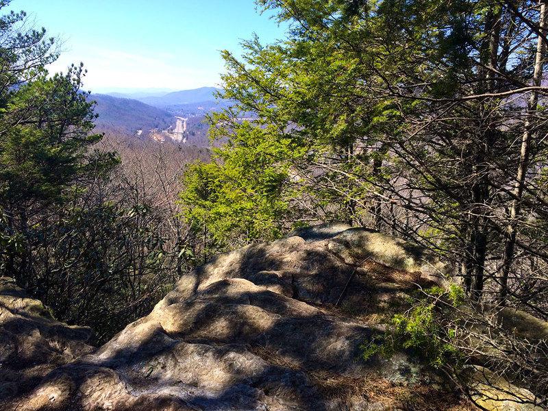 One of many views you can enjoy near the summit of Kitsuma Peak.